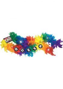 Queen Rainbow Flashing Boa