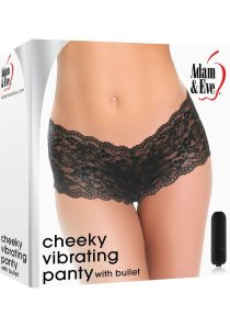 Adam and Eve Cheeky Vibrating Panty With Bullet Black