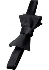 Fifty Shades Darker His Rules Bondage Bow Tie Black