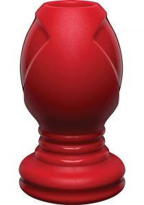 Kink Explore Silicone Anal Plug Red 4.5 Inch