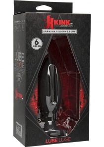 Kink Lube Luge Silicone Anal Plug Large Black 6 Inches
