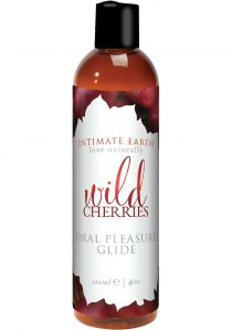 Intimate Earth Oral Pleasure Glide Wild Cherries 4 Ounce