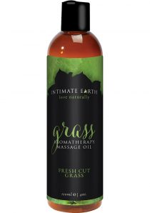 Intimate Earth Aromatherapy Massage Oil Fresh Cut Grass 4 Ounces