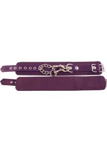 Rouge Plain Leather Ankle Cuffs Purple