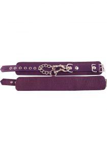 Rouge Plain Leather Ankle Cuffs Purple