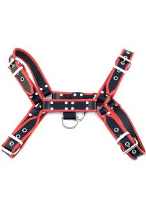 Rouge Ot Front Leather Harness Black And Red L