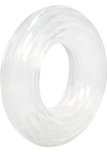 Premium Silicone Cock Ring Clear Large