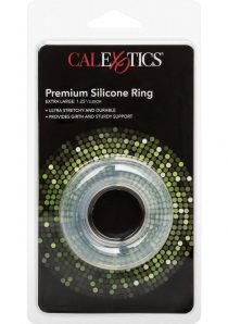 Premium Silicone Cock Ring Clear Extra Large