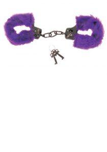 Purple Fur Line Handcuffs