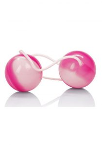 Duotone Orgasm Balls Weighted Pleasure Balls Pink White