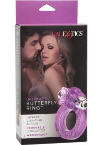 Intimate Butterfly Ring Multispeed Micro Stimulator With Erection Enhancer Purple