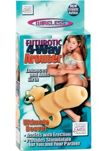 Futurotic 4 Way Arouser Ultimate Beaver With Removable Stimulator 4 Inch Flesh