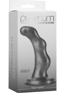 Platinum Premium Silicone The P-Spot Anal Plug Prostate Massager Charcoal 5.10 Inch