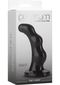 Platinum Premium Silicone The P-Spot Anal Plug Prostate Massager Black