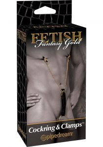 Fetish Fantasy Gold Cockring and Clamps Black/Gold