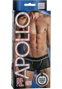 Apollo Mesh Boxer With C-Ring Black Large/Xtra Large
