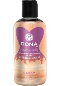 Dona Aphrodisiac and Pheromone Infused Bubble Bath Sassy Tropical Tease 8 Ounce