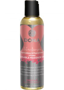 Dona Aphrodisiac and Pheromone Infused Kissable Massage Oil Vanilla Buttercream 3.75 Ounce