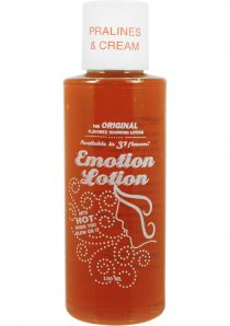 Emotion Lotion Flavored Water Based Warming Lotion Pralines and Cream 4 Ounce