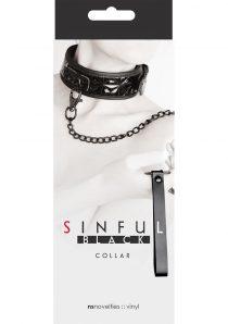 Sinful Black Adjustable Collar