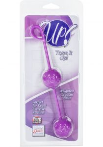Up Tone it Up Silicone Weighted Orgasm Balls Purple 7.5 Inch