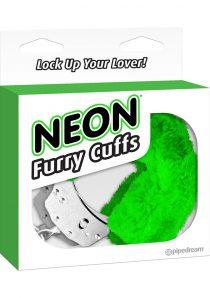 Neon Furry Cuffs Green