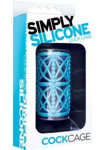 Simply Silicone Textured Cock Cage Sky Blue