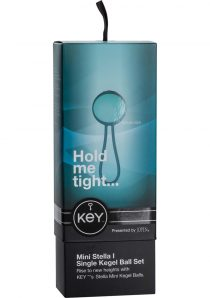 Key Mini Stella I Silicone Single Weighted Kegel Ball Set Egg Blue