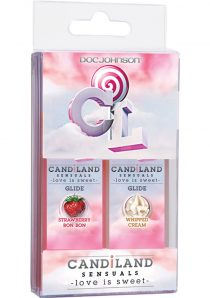 Candiland Sensuals Body Glide 2 Pack Whip Cream/Strawberry Bon Bon 1 Ounce Each