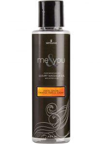 Me And You Pheromone Infused Luxury Massage Oil Lemon Ginger Orange Vanilla Sugar 4.2 Ounce