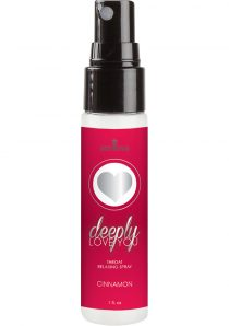 Deeply Love You Throat Relaxing Spray Cinnamon 1 Ounce Spray