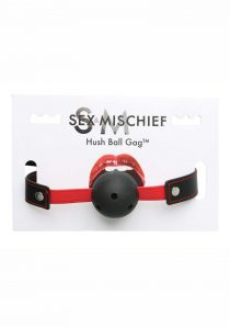 Sex and Mischief Hush Ball Gag Adjustable Strap 1.75 Diameter Ball