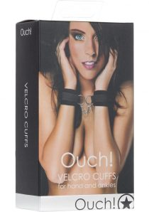 Ouch Velcro Cuffs For Hands Or Ankles Black