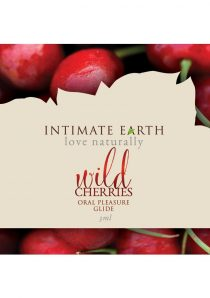 Intimate Earth Oral Pleasure Glide Wild Cherries 3 Milliliter Foil Pack