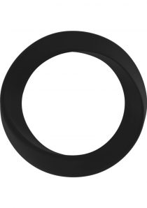 Mjuze Infinity Silicone Cock Ring Waterproof Black Thin Medium