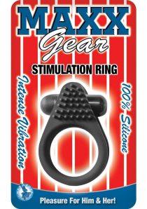 Maxx Gear Stimulation Ring Silicone Waterproof Black