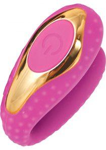Surenda Enhanced Oral Vibe Silicone Waterproof Pink Gold
