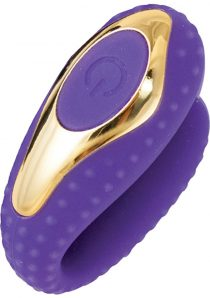 Surenda Enhanced Oral Vibe Silicone Waterproof Purple Gold
