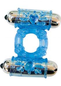 The Best Of MachO Dual Mega Love Bullet Cockring Blue