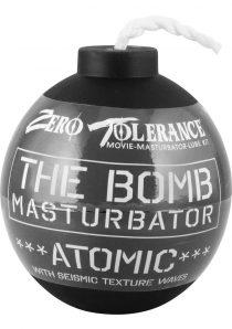 The Bomb Masturbator Atomic Textured Stroker Sleeve Black