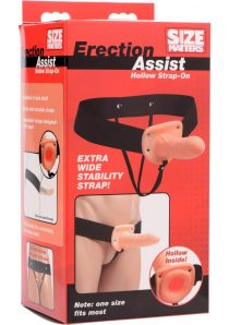 Size Matters Eriction Assist Hollow Strap-On Flesh