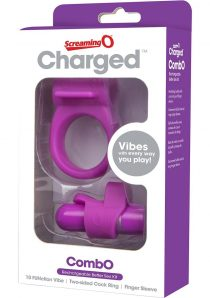 Charged Combo USB Rechargeable Silicone Kit 1 Waterproof Purple