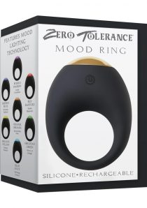 Zero Tolerance Mood Ring Silicone USB Rechargeable Cock Ring Waterproof Multi-Colored LED Light