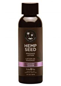 Hemp Seed Massage Lotion 100% Vegan Lavender 2 Ounce