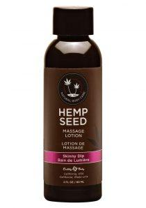 Hemp Seed Massage Lotion 100% Vegan Skinny Dip 2 Ounce