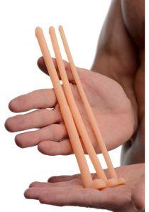 Master Series Dockers Silicone Urethral Sound Set Flesh 8 Inch