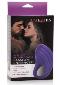 Silicone Rechargeable Passion Enhancer Cockring Waterproof Purple