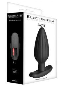 ElectraStim Rocker Silicone Noir Butt Plug Black Large