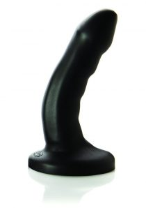 Curve Super Soft Silicone Textured Dildo Black