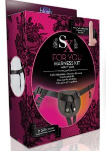 SX For You Black Harness Kit With Soft Realistic Cock Flesh 7 Inch